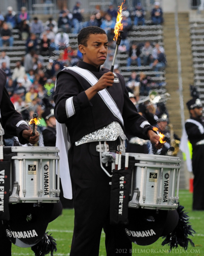 snare drummer for the UConn Marching Band